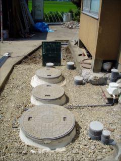 合併浄化槽設置工事後の画像